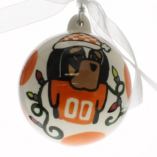 Hand Painted Porcelain Collegiate Ornament (University of Tennessee)