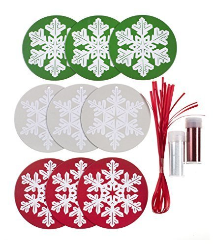 Martha Stewart Crafts Christmas Glitter Snowflake Ornament Kit by LONG KING PRINTING COMPANY LIMITED
