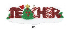 Teacher Personalized Ornament by Rudolph and Me Ornaments