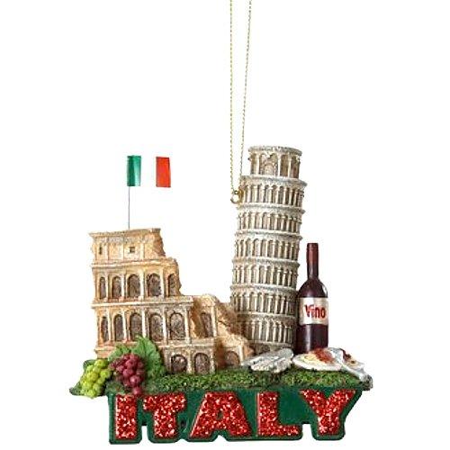 3.25″ Glittered International City of Travel Italy Christmas Ornament