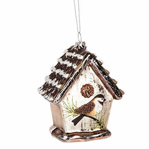 Glass Birdhouse Christmas Ornament Midwest CBK 121155