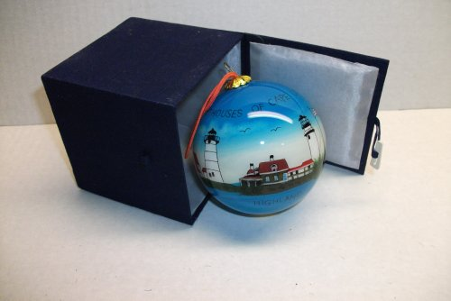 Glass Lighthouses of Cape Cod Ornament with Cloth Box