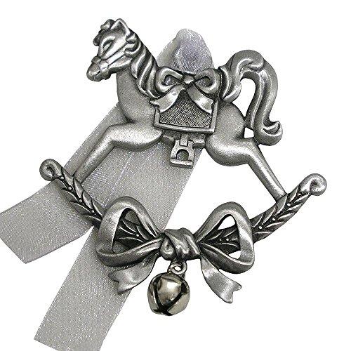 Gloria Duchin Genuine Pewter Rocking Horse Ornament