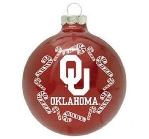 University of Oklahoma Sooners NCAA Glass Christmas Ornament Holiday Decoration
