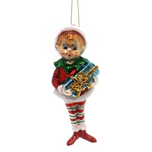 Mark Roberts SWEET ELF ORNAMENT Glass Christmas Bell Gift 3660140 Girl