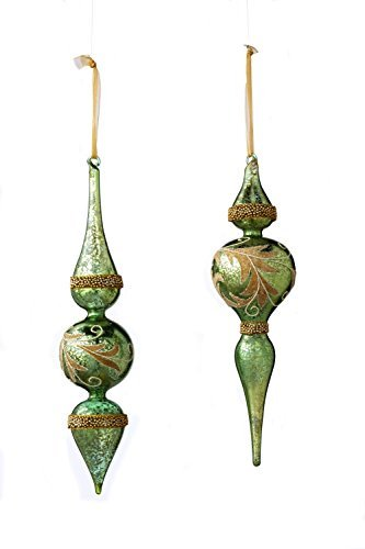 Sage & Co. XAO16766AQ 13 Acanthus Finial Ornament Assortment by Sage & Co.
