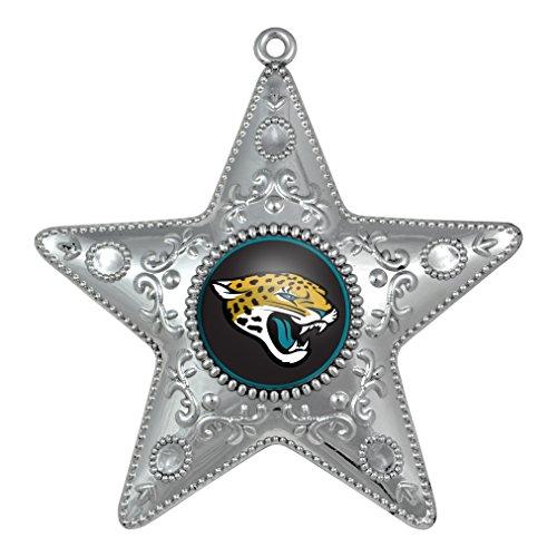 Jacksonville Jaguars – NFL Official 4.5″ Silver Star Ornament
