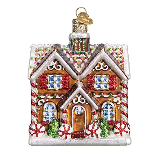 Old World Christmas Christmastime Cottage Glass Blown Ornament