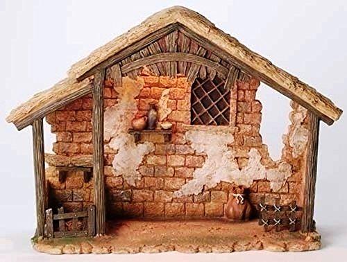 Fontanini Lighted Stable Italian Christmas Nativity Village Figurine 50816 New