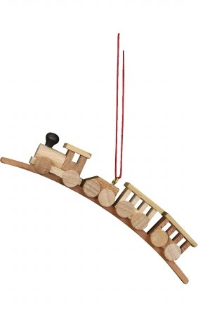 "10-0038 – Christian Ulbricht Ornament – Train Medium – .75″""H x 3.75″""W x .5″""D"