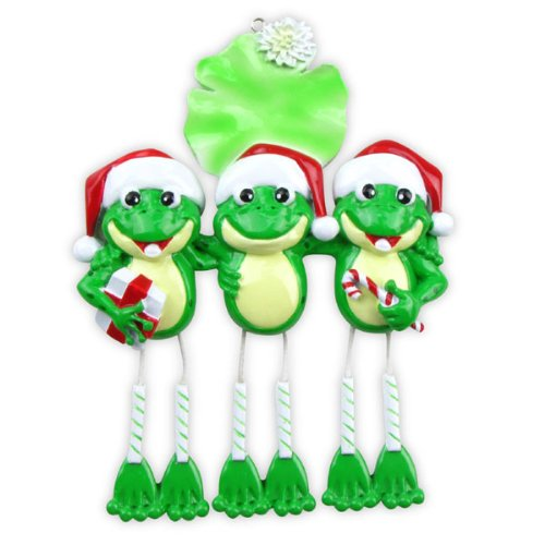 Frog Dangle Legs (3) Personalized Christmas Ornament