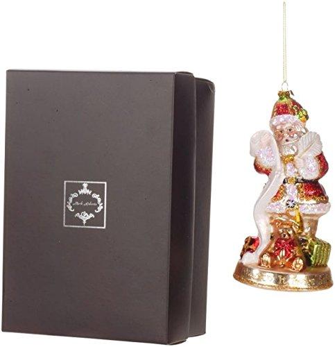 Mark Roberts Blown Glass Santa Checking It Twice Ornament Beautifully Gift Boxed