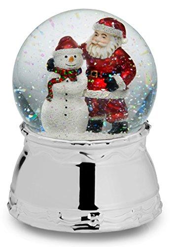 Mikasa Celebrations Santa Snowman Snowglobe