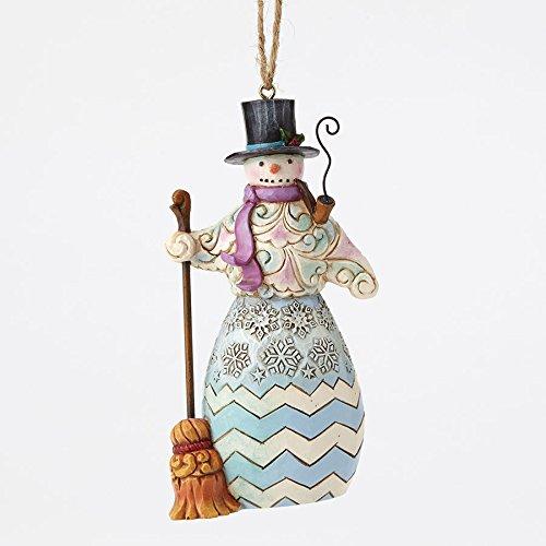 Enesco Jim Shore HWC Regal Snowman W/ Broom Ornament