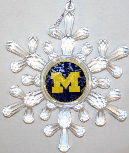 Michigan Wolverines Snowflake Christmas Ornament