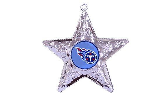 NFL Tennessee Titans Silver Star Ornament