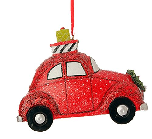 Raz Red Volkswagen VW Style Car Christmas Ornament