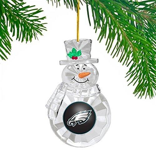 Philadelphia Eagles NFL 3″ Traditional Snowman Christmas Tree Ornament