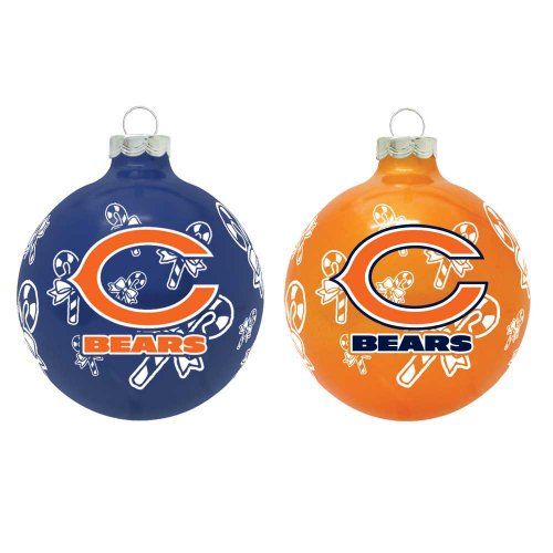 NFL Chicago Bears Traditional 2 5/8″ Ornament Set in Primary and Secondary Team Color