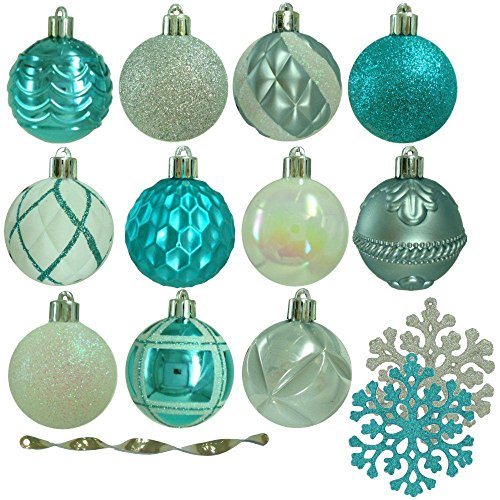 Martha Stewart Living Winter Wishes Shatter-Resistant Assorted Ornament (101-Count)