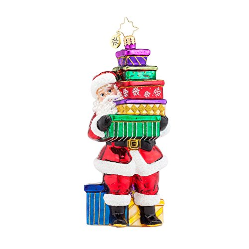 Christopher Radko Santa Shopper Christmas Ornament