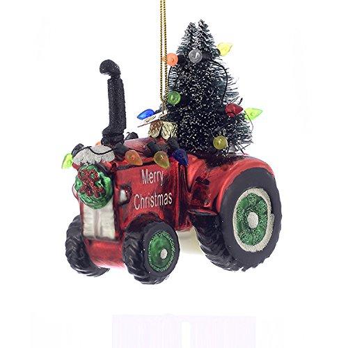 Kurt Adler 4″ Noble Gems Glass Tractor Ornament