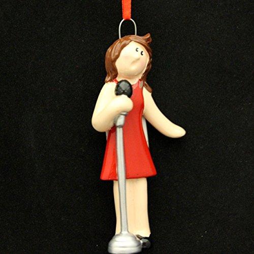 8295 Singer Girl Hand Personalized Christmas Ornamenet