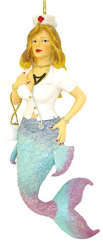 December Diamonds Sexy Nurse Nettle Mermaid Christmas Ornament