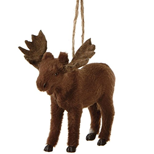 4″ Furry Forest Friends Chocolate Brown Moose Wildlife Christmas Ornament