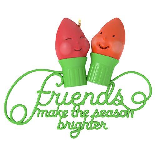 Friends Make the Season Brighter Christmas Ornament Hallmark Keepsake Ornament