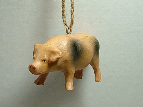New Pig Sow Pigglet Pot-Bellied Pig Piggy Animal Farm Christmas Tree Ornament