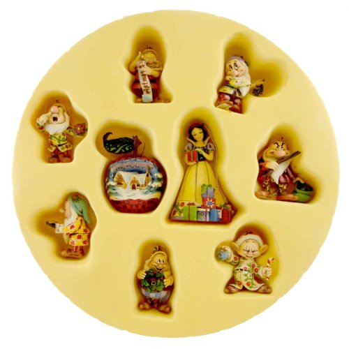 Jim Shore SNOW WHITE SEVEN DWARF SET Stone Resin Ornament St/9 Disney 4008072