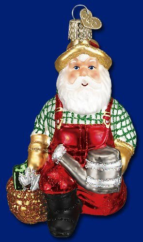 Old World Christmas Gardener Santa Christmas Ornament
