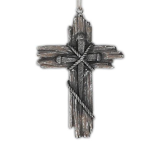 Midwest CBK 5″ x 3.5″ Resin Cross & Nail Ornament