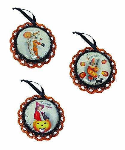Bethany Lowe Vintage Inspired Halloween Clown Children Hanging 5.5″ Ornaments (Set/3)