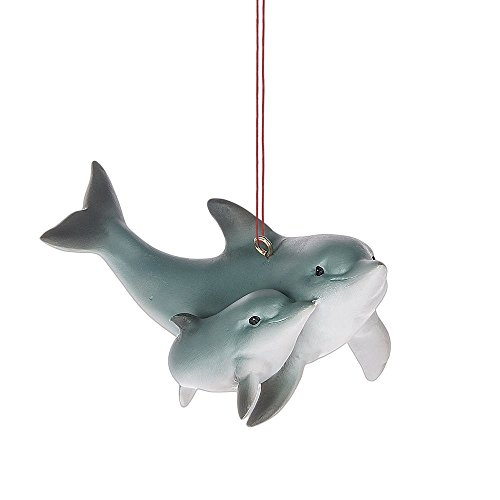 Midwest-CBK Dolphin and Baby Resin Ornament Marine Life