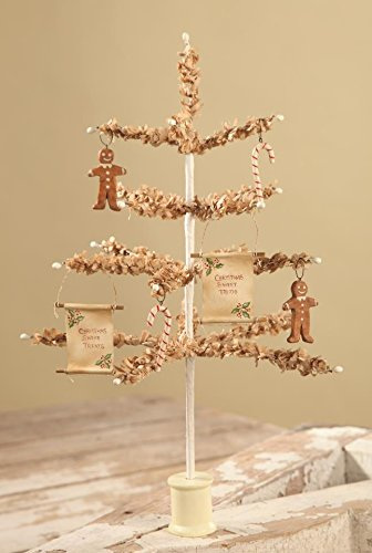 Bethany Lowe 12′ Tea Stained Paper Tree and Sweet Treats Ornaments