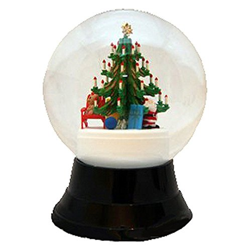 Alexander Taron Importer PR1759 Perzy Decorative Snowglobe with Large Christmas Tree, 7″ x 4.75″ x 4.75″
