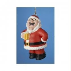 3.5″ Family Guy Peter Griffin in Santa Suit with Beer Christmas Figure Ornament