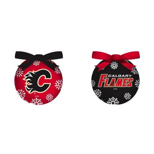 Calgary Flames Boxed LED Ornament Set