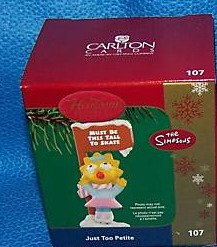 The Simpsons – Just Too Petite 2006 Carlton Cards Christmas Ornament