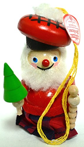 Steinback Handmade German Wooden Ornament (Scottish Santa)