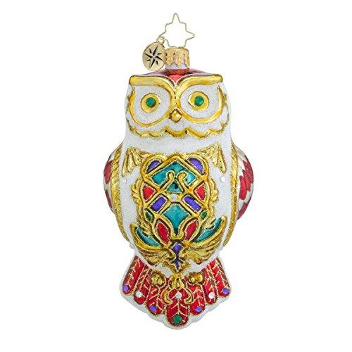 Christopher Radko Owl Fly Away Glass Christmas Ornament – 5.5″h.