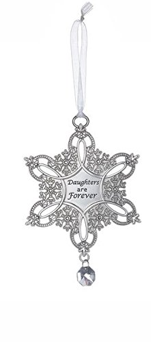 """Snowflake Wishes Ornament – """"Daughters are forever"""""""