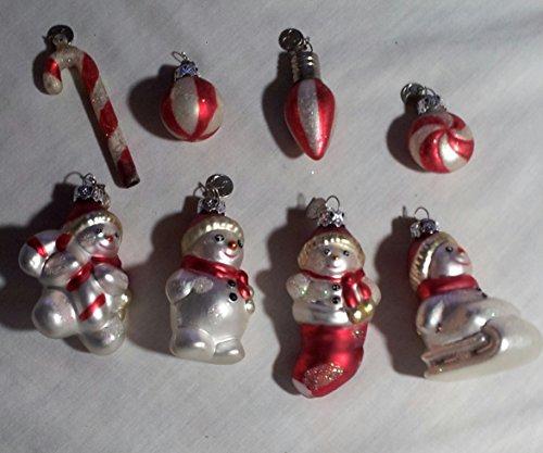 Retired Department 56 Mini Glass Ornament Set – Snowmen