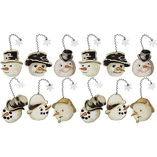 Vintage Snowman Ornaments Set of 6 – 2 Pack