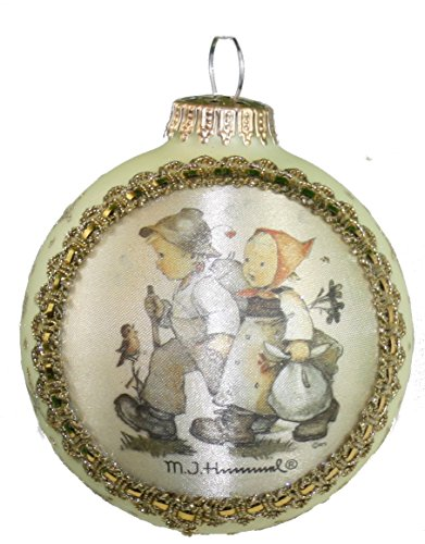 Krebs Glass Ball with Hummel Silk Picture Ornament (H217 Hansel & Gretel)