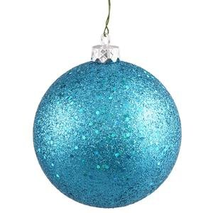 Vickerman 8″ Turquoise Sequin Ball Ornament