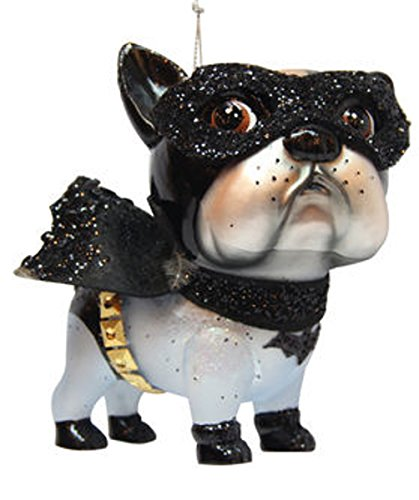 December Diamonds Blown Glass Ornament – Bulldog Bat Superhero