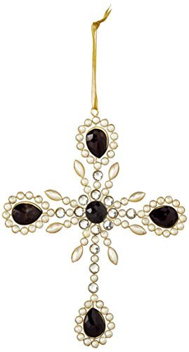 Sage & Co. XAO17052 7.5 Gem and Pearl Ornate Cross Ornament by Sage & Co.